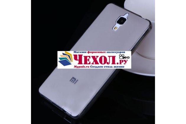 Ультра-тонкая полимерная мягкая задняя панель-чехол-накладка для xiaomi mi4 черная