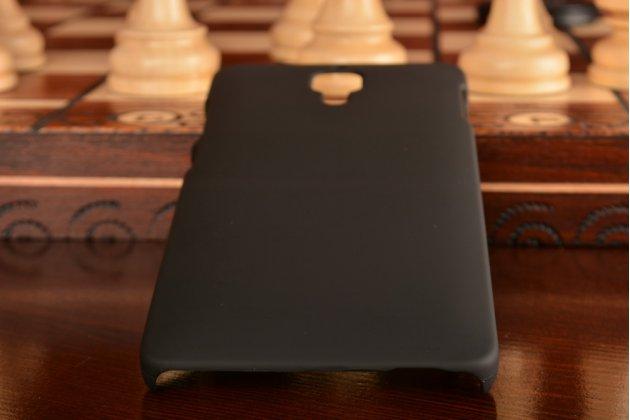 Задняя панель-крышка-накладка из тончайшего и прочного пластика для xiaomi mi4 черная