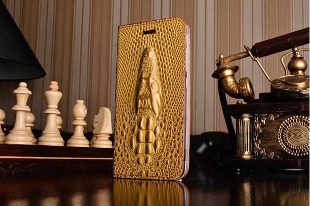 Роскошный эксклюзивный чехол с объёмным 3d изображением рельефа кожи крокодила коричневый для xiaomi mi6 . только в нашем магазине. количество ограничено