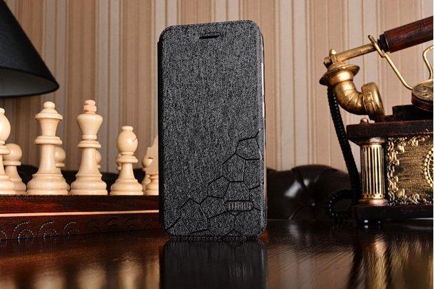 Чехол-книжка из качественной водоотталкивающей импортной кожи на жёсткой металлической основе для xiaomi mi6 черный