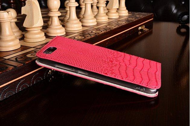 Роскошный эксклюзивный чехол с объёмным 3d изображением рельефа кожи крокодила розовый для xiaomi mi6 . только в нашем магазине. количество ограничено