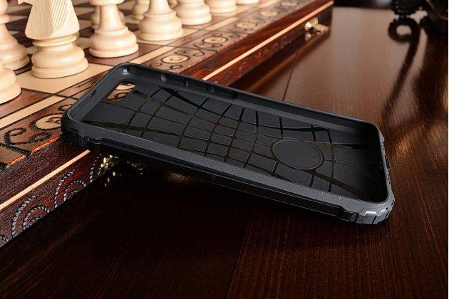 Противоударный усиленный ударопрочный чехол-бампер-пенал для xiaomi mi6 черный