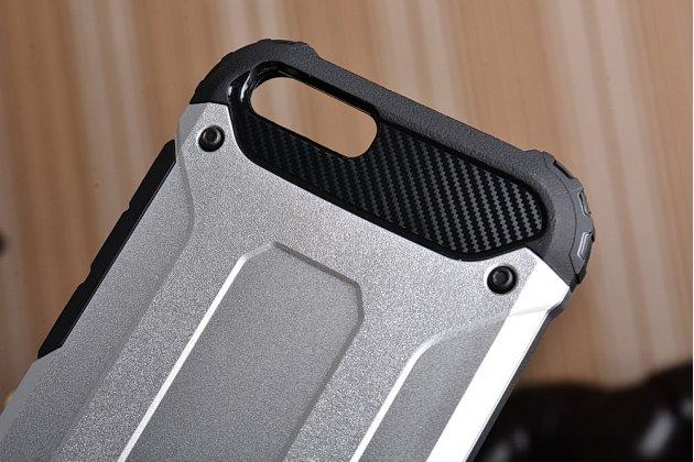 Противоударный усиленный ударопрочный чехол-бампер-пенал для xiaomi mi6 серебристый
