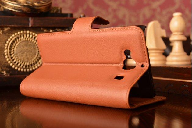 """Чехол-книжка из качественной импортной кожи с мульти-подставкой застёжкой и визитницей для ксиаоми хонгмин 2 2а/ редми 2/ редми 2 про 4.7"""" коричневый"""