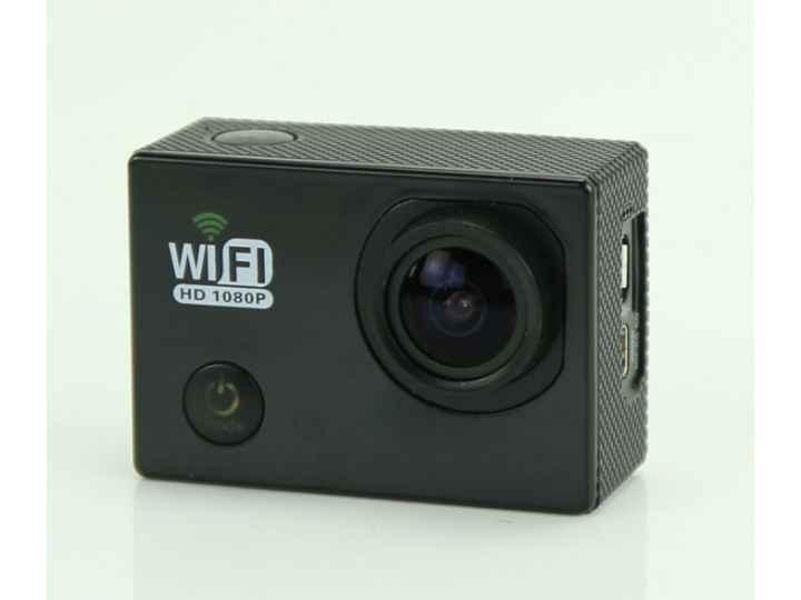Портативная спортивная wi-fi экшн-камера sjcam sj6000  беспроводная черного цвета..