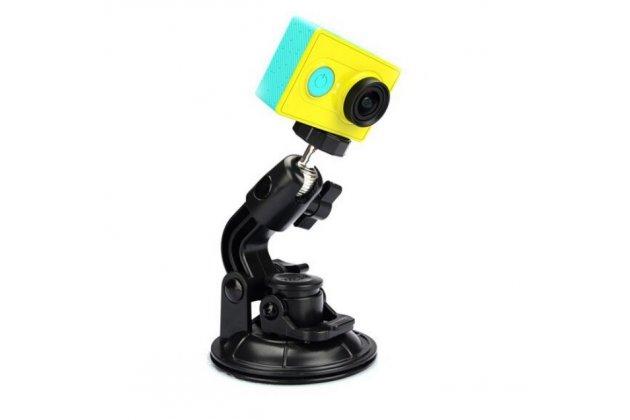 Автомобильный держатель-крепление на лобовое стекло для спортивной фото-видео-экшн-камеры xiaomi yi металлическое