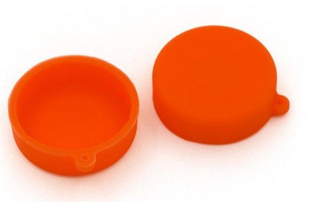 Защитная крышка-заглушка для объектива-линзы фото-видео-экшн-камеры xiaomi yi оранжевая