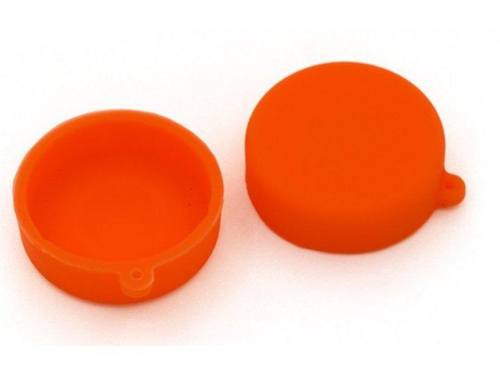 Защитная крышка-заглушка для объектива-линзы фото-видео-экшн-камеры xiaomi yi оранжевая..
