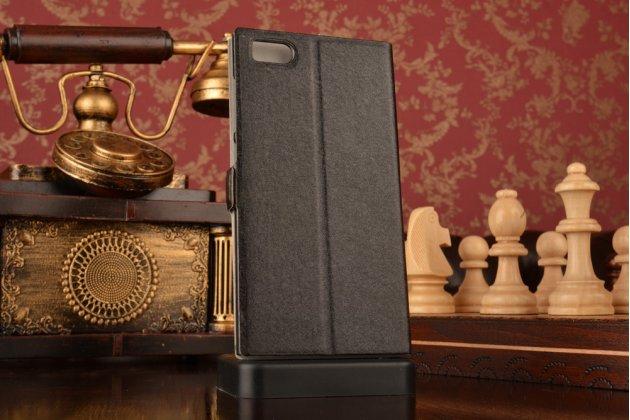 Чехол-книжка для xiaomi mi3 черный с окошком для входящих вызовов и свайпом водоотталкивающий