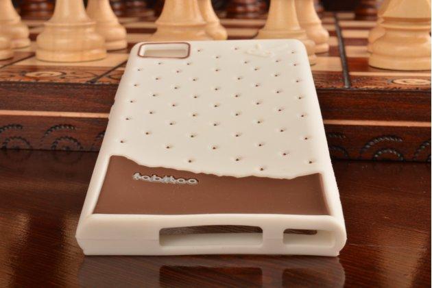 """Необычная уникальная полимерная мягкая задняя панель-чехол-накладка для xiaomi mi3 """"тематика андроид в белом шоколаде"""""""
