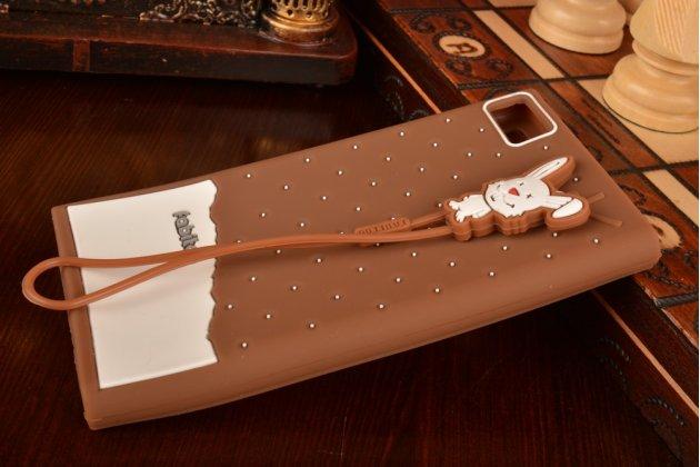 """Необычная уникальная полимерная мягкая задняя панель-чехол-накладка для xiaomi mi3 """"тематика андроид в темном шоколаде"""""""