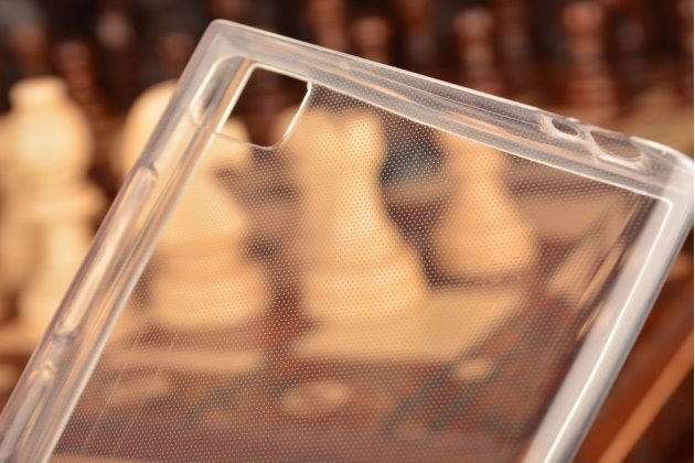 Ультра-тонкая полимерная из мягкого качественного силикона задняя панель-чехол-накладка для xiaomi mi3 белая