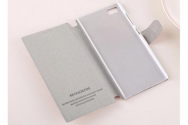 Чехол-книжка с застежкой украшенная стразами кристалликами и декорированная элементами для xiaomi mi3 малиновая