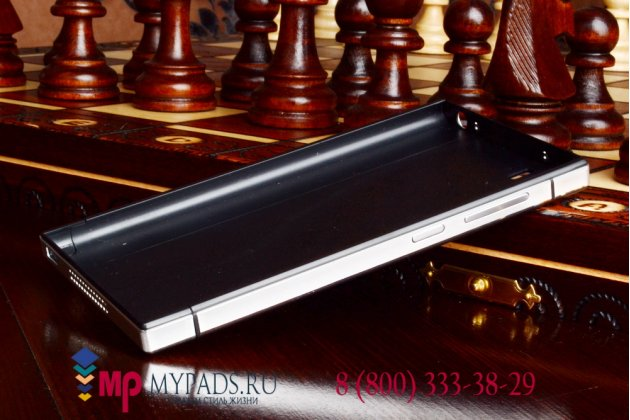 Металлическая задняя панель-крышка-накладка из тончайшего облегченного авиационного алюминия для xiaomi mi3 белая