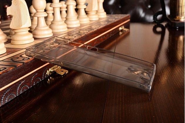 Ультра-тонкая полимерная из мягкого качественного силикона задняя панель-чехол-накладка для xiaomi mi3 черная