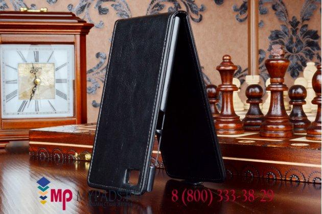 """Вертикальный откидной чехол-флип для xiaomi mi3 черный кожаный """"prestige"""" италия"""