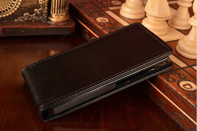"""Вертикальный откидной чехол-флип для xiaomi mi2a черный из качественной импортной кожи """"prestige"""" италия"""