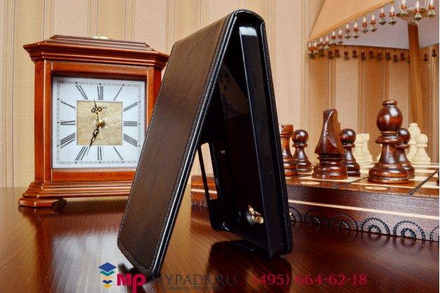 """Вертикальный откидной чехол-флип для xiaomi mi2s черный из качественной импортной кожи """"prestige"""" италия"""