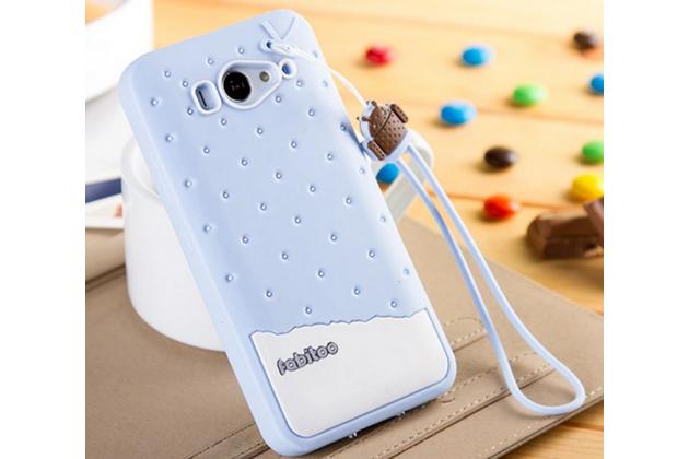 """Необычная уникальная полимерная мягкая задняя панель-чехол-накладка для xiaomi mi2s  """"тематика андроид в черничном шоколаде"""""""