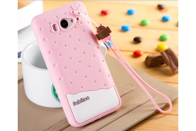 """Необычная уникальная полимерная мягкая задняя панель-чехол-накладка для xiaomi mi2s """"тематика андроид в клубничном шоколаде"""""""