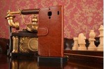Чехол-книжка из качественной импортной кожи с мульти-подставкой застёжкой и визитницей для сиаоми ред райс 1с/ксиаоми ред райс коричневый