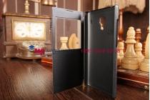 Чехол-книжка для xiaomi red rice/red rice 1s черный кожаный с окошком для входящих вызовов