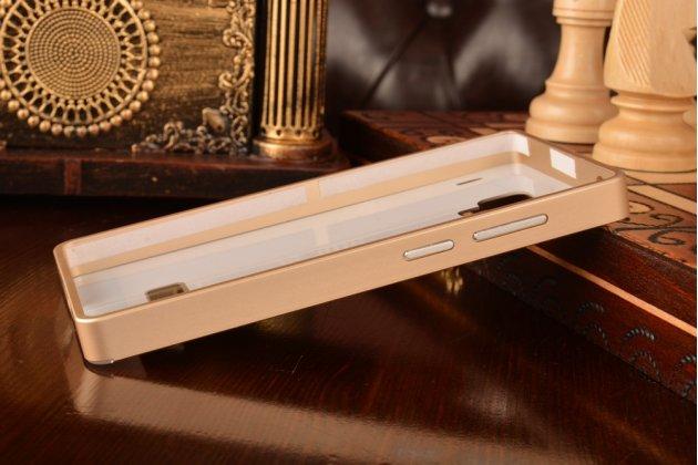 Металлическая задняя панель-крышка-накладка из тончайшего облегченного авиационного алюминия для xiaomi red rice/red rice 1s золотая