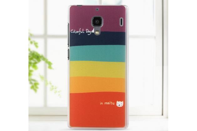 """Необычная из легчайшего и тончайшего пластика задняя панель-чехол-накладка для xiaomi red rice/red rice 1s  """"тематика все цвета радуги"""""""