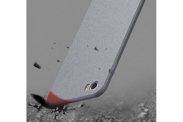 Задняя панель-чехол-накладка с защитными заглушками с защитой боковых кнопок для xiaomi mi 5c серебристая