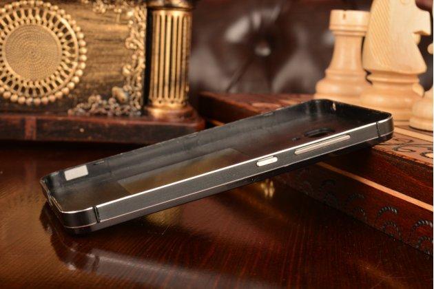 Металлическая задняя панель-крышка-накладка из тончайшего облегченного авиационного алюминия для xiaomi mi2a черная