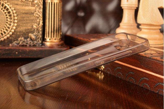 Ультра-тонкая полимерная из мягкого качественного силикона задняя панель-чехол-накладка для xiaomi mi2s  черная