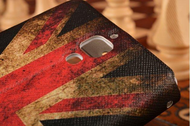 "Чехол-книжка с рисунком на тему ""ретро британский флаг"" на xiaomi mi4  с окошком для звонков"