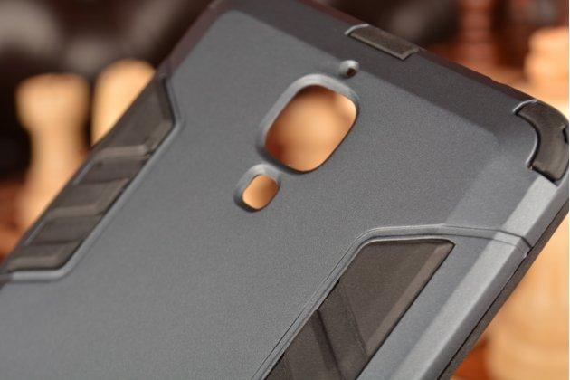 Противоударный усиленный ударопрочный чехол-бампер-пенал для xiaomi mi4 черный