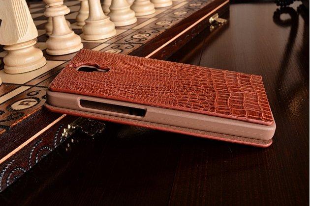 Роскошный эксклюзивный чехол с объёмным 3d изображением кожи крокодила для xiaomi mi4 черный. только в нашем магазине. количество ограничено