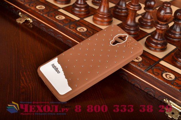"""Необычная уникальная полимерная мягкая задняя панель-чехол-накладка для xiaomi mi4  """"тематика андроид в тёмном шоколаде"""""""