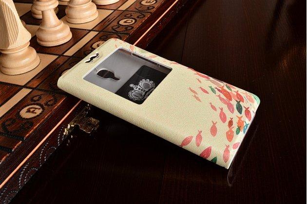 "Чехол-книжка красивым узором тематика ""рыбки"" на xiaomi mi4  с окошком для звонков"
