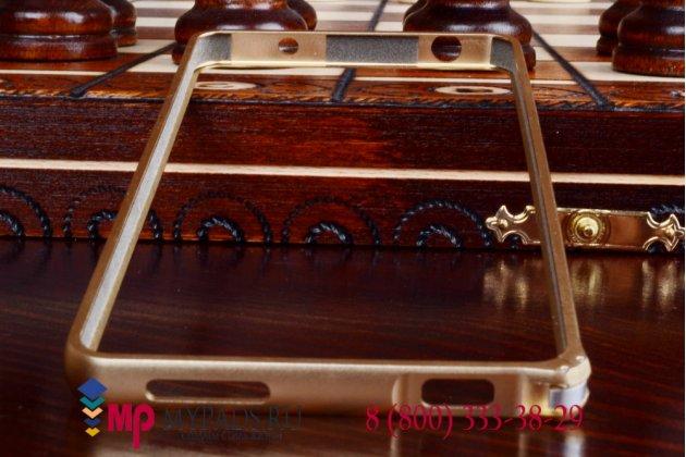 Ультра-тонкий чехол-бампер для xiaomi mi4 золотой металлический