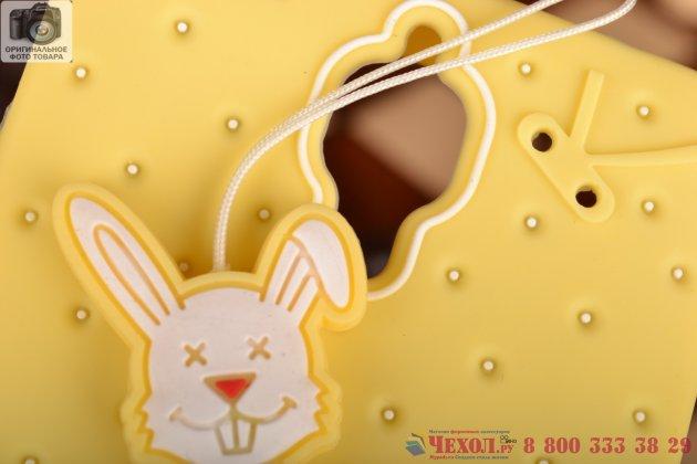 """Необычная уникальная полимерная мягкая задняя панель-чехол-накладка для xiaomi mi4 """"тематика андроид в ванильном  шоколаде"""""""