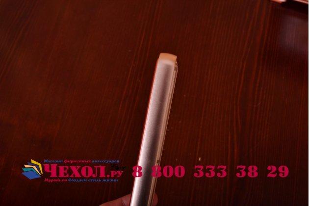 Роскошная элитная премиальная задняя панель-крышка на металлической основе обтянутая импортной кожей для xiaomi mi4  королевский коричневый