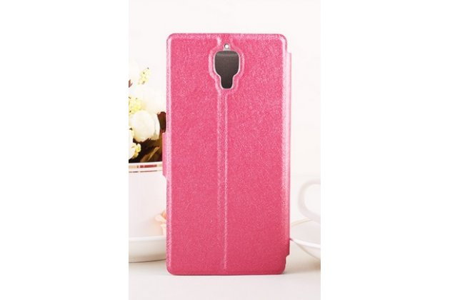 Роскошный чехол-книжка безумно красивый декорированный бусинками и кристаликами на xiaomi mi4 розовый