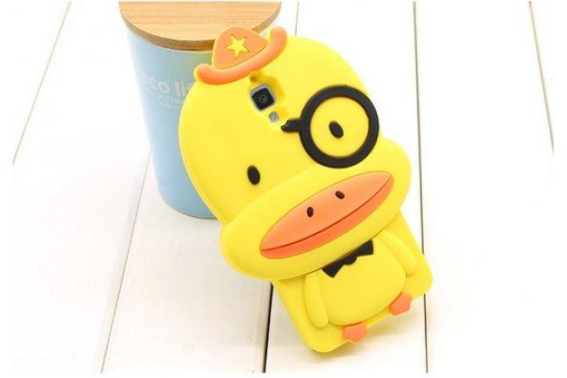 """Задняя панель-чехол-накладка с объёмным 3d изображением для xiaomi mi4  """"тематика веселый утенок"""" желтый"""