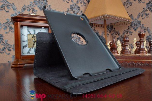 Чехол для xiaomi mipad 7.9 дюймов поворотный роторный оборотный черный кожаный