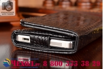 Фирменный роскошный эксклюзивный чехол-клатч/портмоне/сумочка/кошелек из лаковой кожи крокодила для телефона ZTE AXON 7/ Axon 2. Только в нашем магазине. Количество ограничено