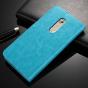 """Фирменный чехол-книжка для ZTE AXON 7/ Axon 2 (A2017G) 5.5"""" с визитницей и мультиподставкой голубой кожаный"""