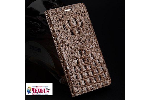 """Роскошный эксклюзивный чехол с объёмным 3d изображением кожи крокодила коричневый для zte axon 7/ axon 2 (a2017g) 5.5"""". только в нашем магазине. количество ограничено"""