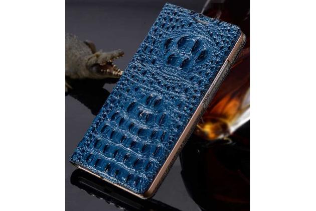 """Роскошный эксклюзивный чехол с объёмным 3d изображением кожи крокодила синий для zte axon 7/ axon 2 (a2017g) 5.5"""". только в нашем магазине. количество ограничено"""