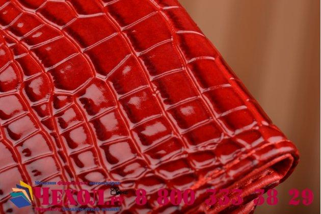Роскошный эксклюзивный чехол-клатч/портмоне/сумочка/кошелек из лаковой кожи крокодила для телефона zte axon 7 mini. только в нашем магазине. количество ограничено