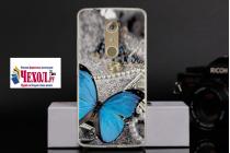 """Фирменная необычная из силикона задняя панель-чехол-накладка для ZTE Axon 7 Mini"""" тематика Бабочка"""