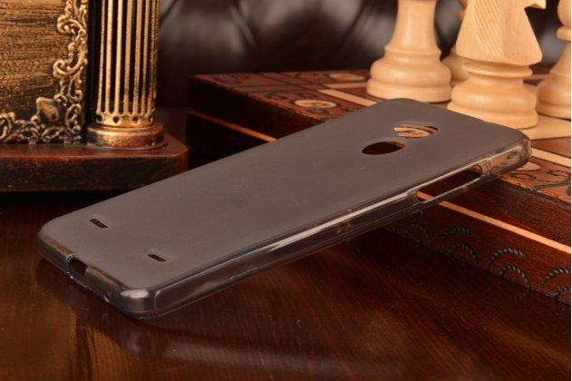Ультра-тонкая силиконовая задняя панель-чехол-накладка для zte blade a2 черная