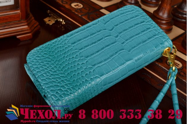 Роскошный эксклюзивный чехол-клатч/портмоне/сумочка/кошелек из лаковой кожи крокодила для телефона zte blade a465. только в нашем магазине. количество ограничено